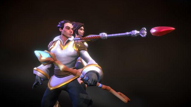 Overpower - Mages 3D Model