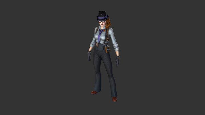 Gumshoe Outfit 3D Model