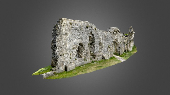 Refectory Wall, Lewes Priory, East Sussex 3D Model