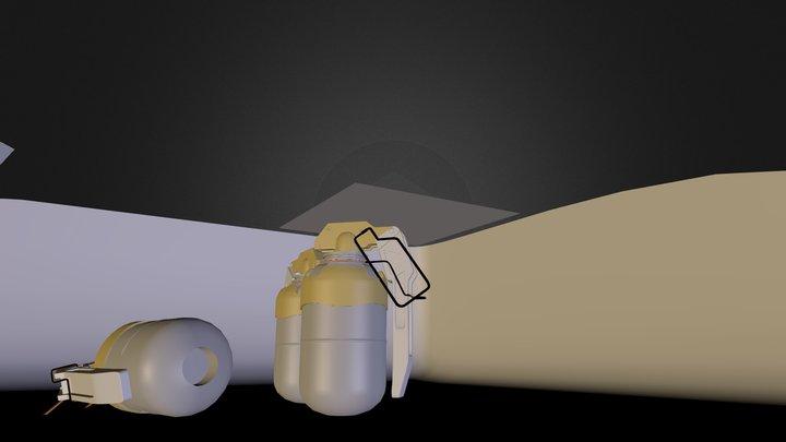 M85 Grenade 3D Model