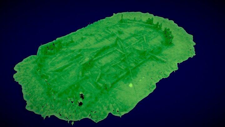 19 metre deep Coombe Site 3D Model