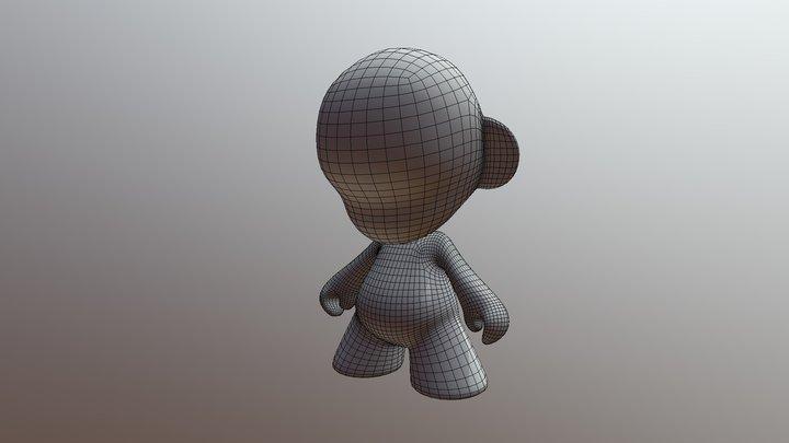 Munny High Poly 3D Model