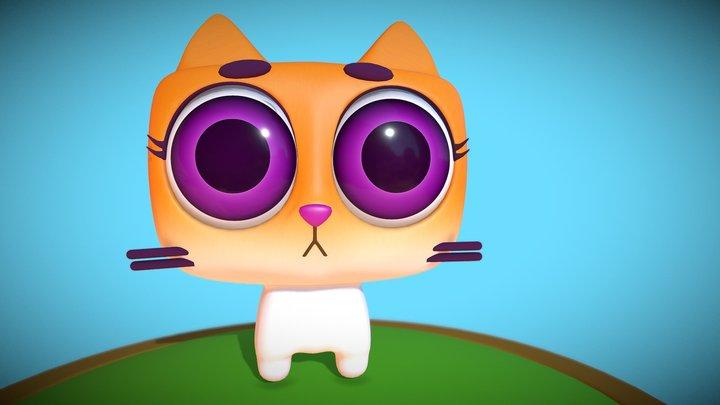 Meow Cute Tiny Cat 3D Model