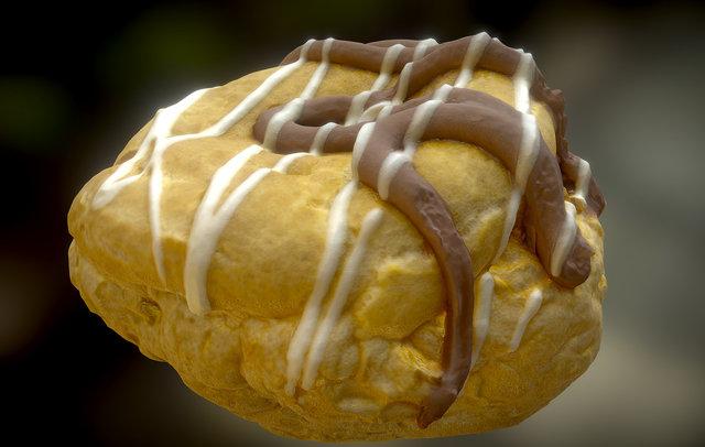 Belgium Chocolate Choux Bun 3D Model