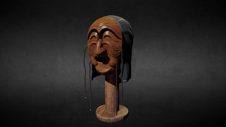 Tal 하회탈 - Korean traditional mask 3D Model