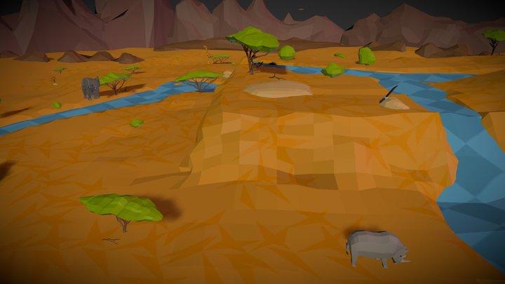 Savanna Scene 3D Model