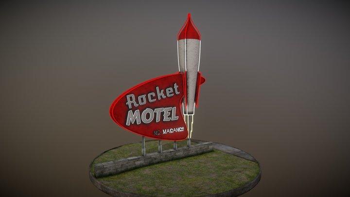 Rocket Motel Sign Concept Art 3D Model