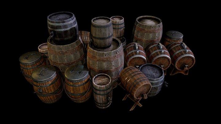 Barrels! 3D Model