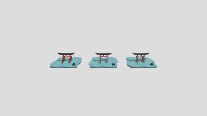 Ритуальные врата 3D Model