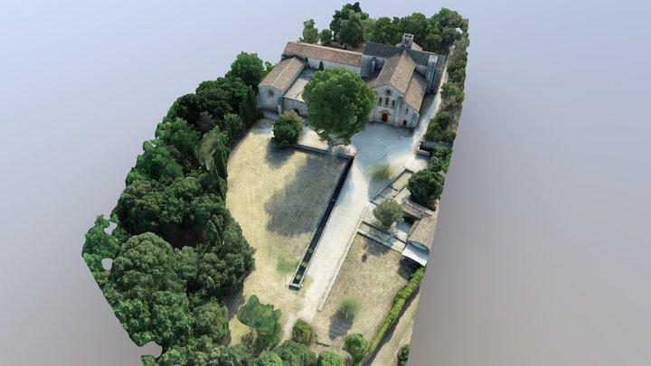 Abbaye de Silvacane La Roque d'Anthéron Provence 3D Model
