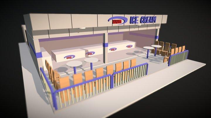 Ice Cream Parlour 3D Model