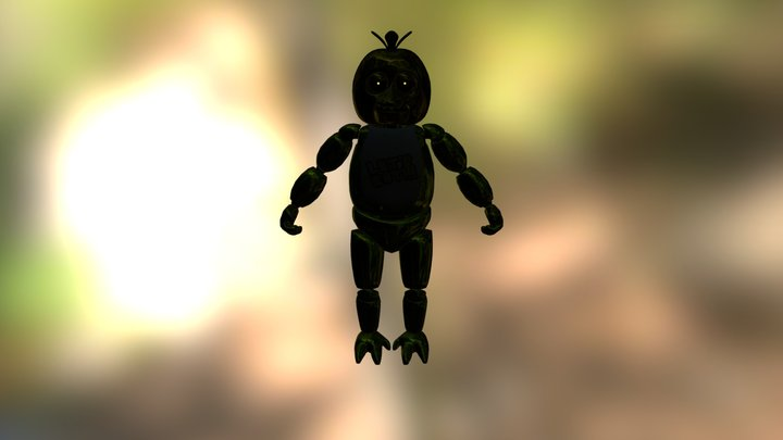 Shadow Chica 3D Model