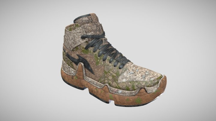 Forest Sneaker 3D Model