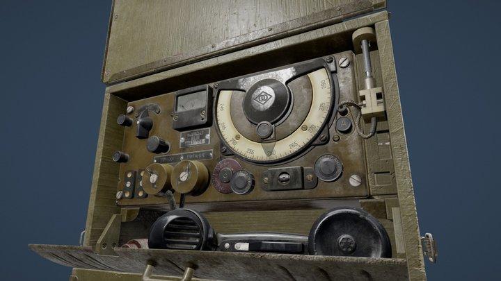 A7B USSR Military Radio set 3D Model
