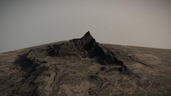Mountainous Valley 3D Model