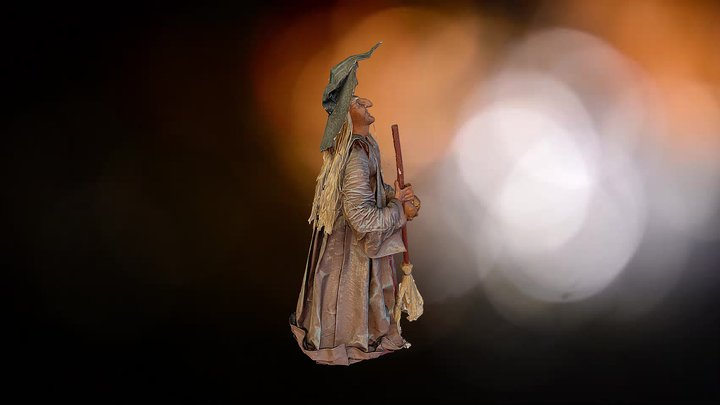 Witch Statue 3D Model