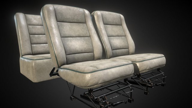 Light Aircraft Seats and Frame 3D Model