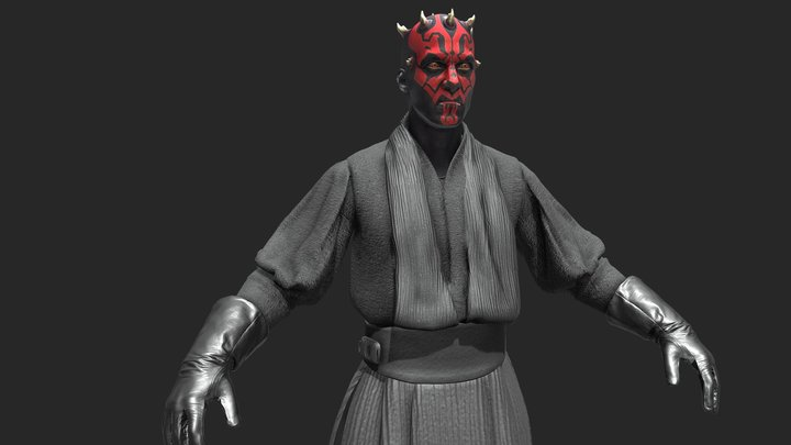 Darth Maul 3D Model