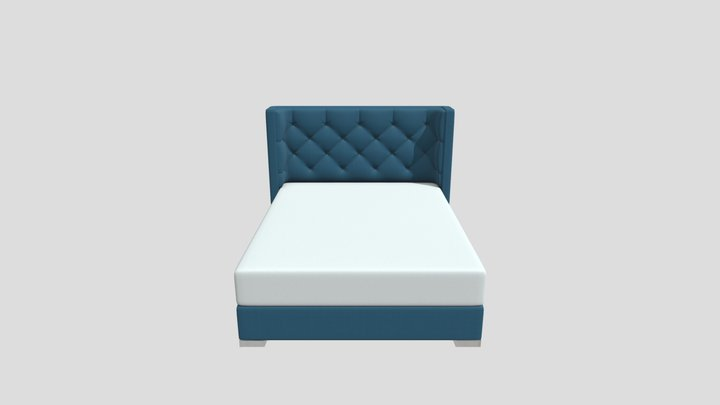 Large Double Bed 3D Model