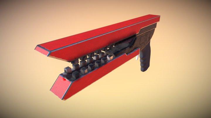 X1 Laser Pistol 3D Model