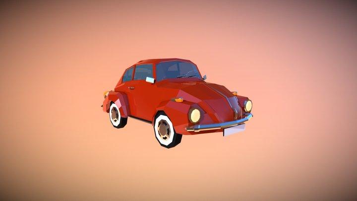 Low Poly City Car 01 3D Model