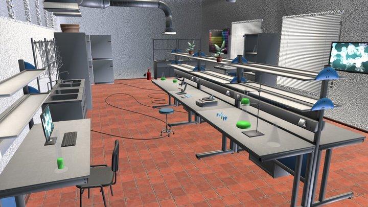 Laboratory - interior and props 3D Model