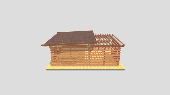 Grumer Albert (Terrasse, Bergola, Dach).xml 3D Model