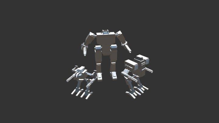 Mecha Pack 3D Model