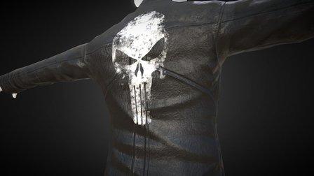 Black Leather Jacket 3D Model