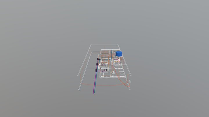 Instalações Linear 4 Vivaz 3D Model