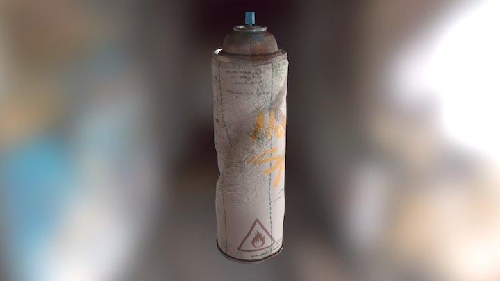 Spray Can Texture 3D Model