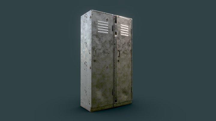 Metal Cabinet (Low Poly) 3D Model