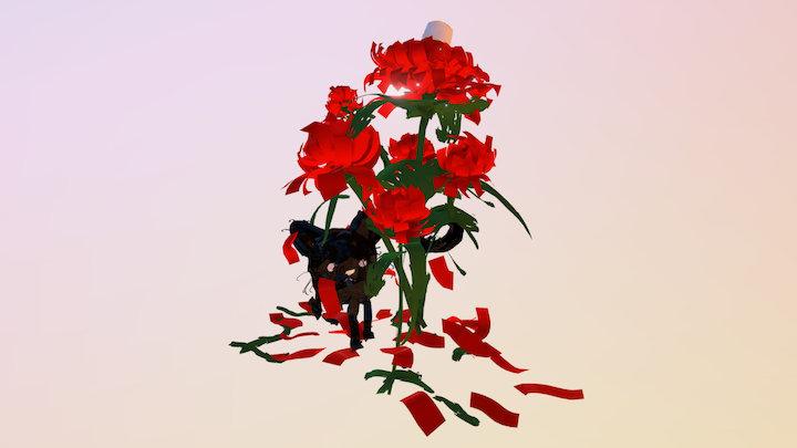 (Tilt Brush) - Cat x Chrysanthemum 3D Model