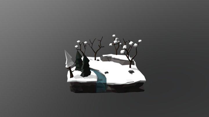 Low Poly Scenario 3D Model