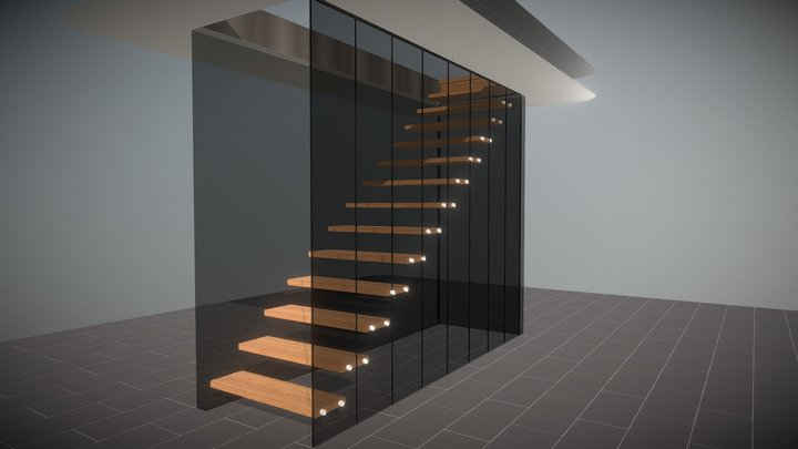 Glass wall 3D Model