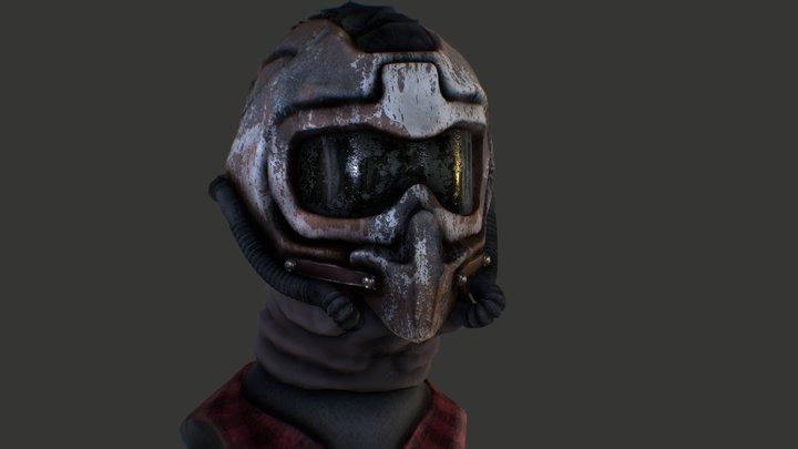 """Vintage 2725 """" Spacer Armoured Pressure Helmet """" 3D Model"""