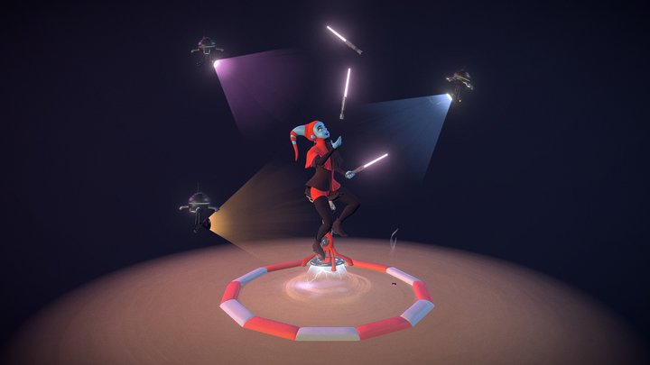 Lekku Juggler [Challenge: Sci-Fi Circus] 3D Model