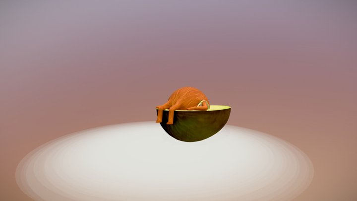 Avocado solo traveler [animated] 3D Model