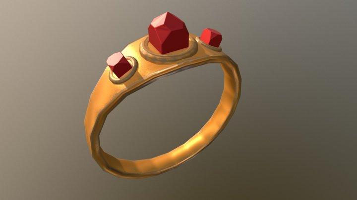 Rusty Gold Ring. 3D Model