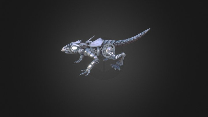 Clockwork Lizard 3D Model