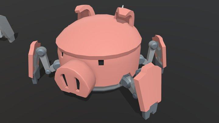 Homework 5.1 - pig bot 3D Model
