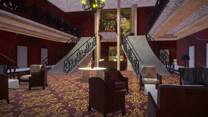 Hotel Lobby by Carla García y Gabriela González 3D Model