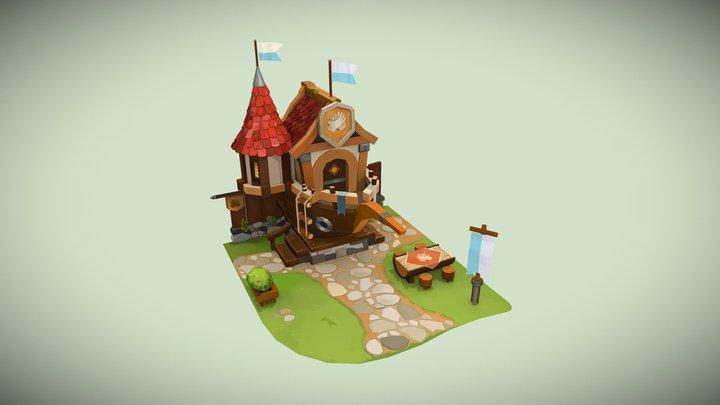 Guild Building 3D Model