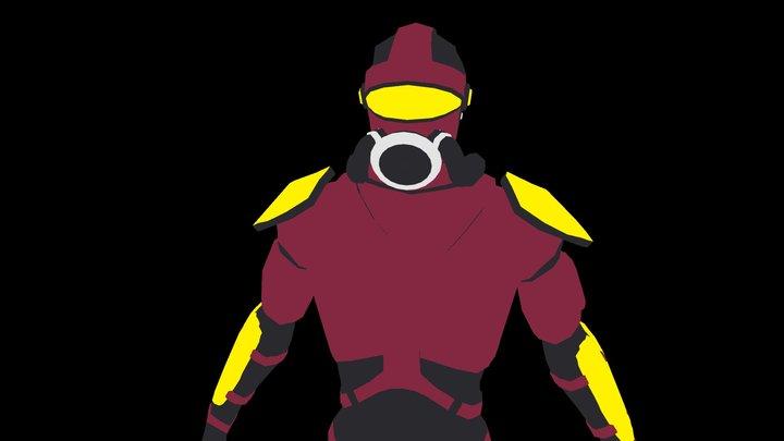 Sci-Fi Enemy Character 1 3D Model