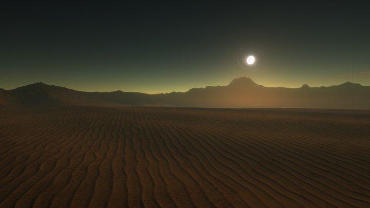 Mars-like planet skybox 3D Model
