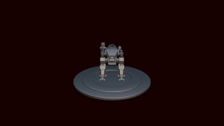 Arctic Fighter Robot 3D Model