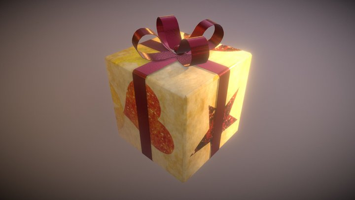 Game Ready Present 3 Low Poly 3D Model