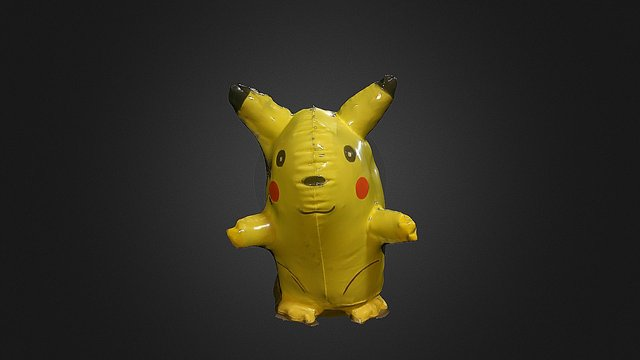 Inflatable Pikachu Scan 3D Model