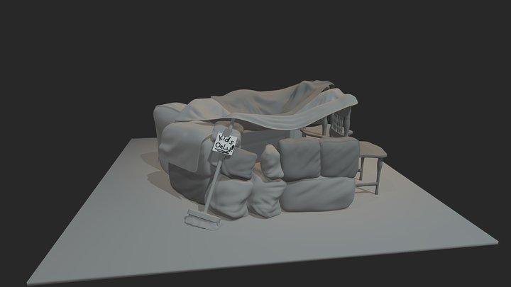 Sculpt January 13 - Pillow Fort 3D Model