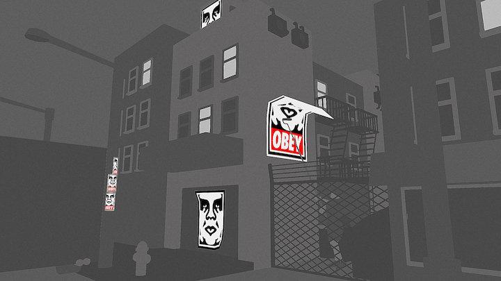 Obey street 3D Model